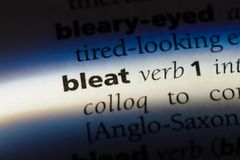 Bleat. Word in a dictionary.  concept royalty free stock images