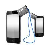 Blechdose SmartPhone Stockfotos