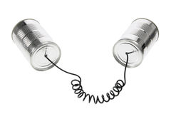 Blechdose-Telefon Lizenzfreie Stockbilder