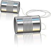 Blechdose-Telefon Lizenzfreies Stockfoto