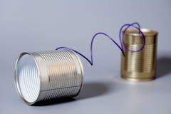 Blechdose Telefon Lizenzfreies Stockbild