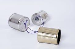 Blechdose Telefon Lizenzfreie Stockfotos