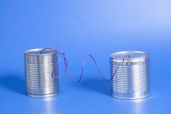 Blechdose Telefon Lizenzfreies Stockfoto