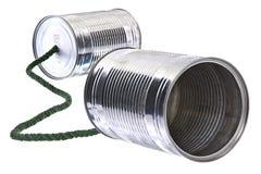 Blechdosetelefon stockbild