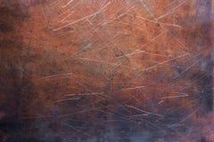 Blechtafel abgestreift, Beschaffenheit der kupfernen alten Platte stockfotos