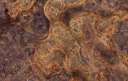 Blechtafel korrodierte rostige oxidierte bedeutende Beschaffenheit des Hintergrundes stockbild