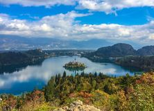 Bled in autumn, Slovenia Royalty Free Stock Image
