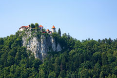 Bled Castle. Tourist attraction of Bled castle in Slovenia Stock Photography