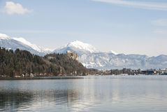 Bled Castle above the Lake, Slovenia Royalty Free Stock Image