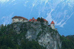Bled castle, Alps,Slovenia. Royalty Free Stock Images