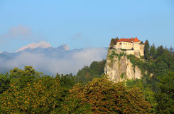 Bled castle, Alps,Slovenia. Stock Photo