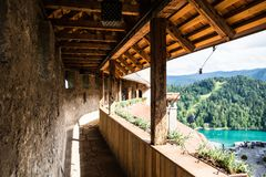 Bled Castle. At beside the famous lake bled royalty free stock images
