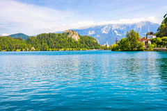 Bled Castle at Bled Lake in Slovenia Royalty Free Stock Photo