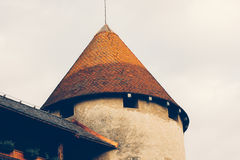 Bled Castle close up Stock Photo