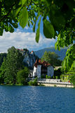 Bled castle and lake Stock Photos