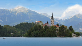 Bled Castle with lake Stock Photography