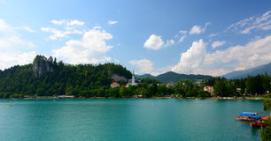 Bled castle and lake. Upper Carniola, Slovenia Stock Photography