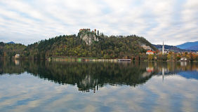 Bled Castle and lake view Royalty Free Stock Photography