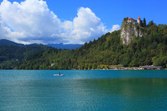 Bled Castle over the Bled Lake Stock Photos
