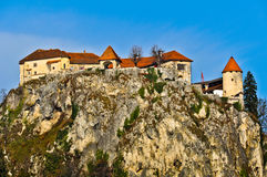 Bled Castle on the Rock Stock Image