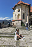 Bled Castle in Slovenia Royalty Free Stock Photos