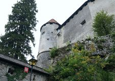 Bled castle tower, Slovenia Stock Photography