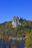 Bled Castle View  Stock Photography