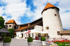 Bled castle walls Royalty Free Stock Image