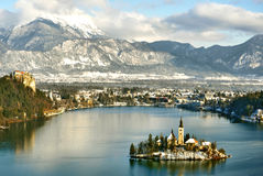 Bled, Church of the Assumption Stock Image