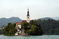 Bled church Royalty Free Stock Image