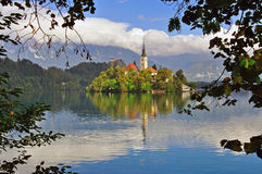 Bled church Royalty Free Stock Photography