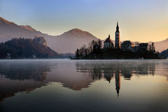 Bled Church, Slovenia Stock Photos