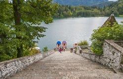Bled church, Slovenia Stock Photography