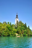 Bled Island with Pilgrimage Church of the Assumption of Mary Royalty Free Stock Photo