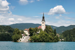 Bled island, Slovenia Royalty Free Stock Photo