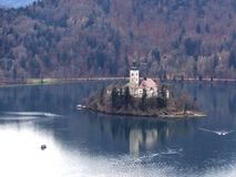 Bled Island in Slovenia Royalty Free Stock Photo
