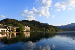 Bled and its hotels Stock Photos