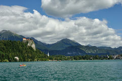 Bled Lake. In a beautiful landscape Royalty Free Stock Photos