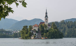 Bled Lake and Bled Island Royalty Free Stock Image