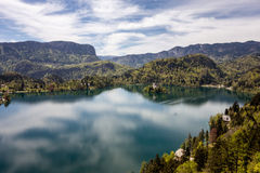 Bled lake. The church of Assumption of Mary on Bled Island (Blejski otok Royalty Free Stock Photos