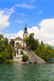 Bled Lake and Church of Saint Mary Royalty Free Stock Photo