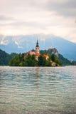 Bled lake with island, Slovenia Royalty Free Stock Photos