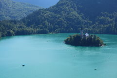 Bled Lake Island Royalty Free Stock Photography