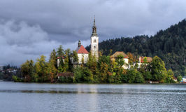 Bled Lake in Julian Alps, Slovenia Stock Photography