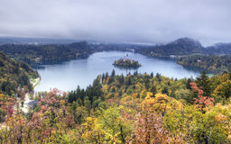 Bled Lake in Julian Alps, Slovenia Royalty Free Stock Image
