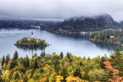 Bled Lake in Julian Alps, Slovenia Royalty Free Stock Photos