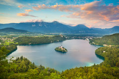 Bled Lake in Julian Alps, Slovenia. Royalty Free Stock Photos