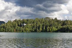 Bled lake landscape Stock Photos