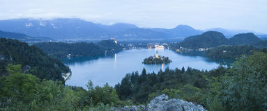 Bled lake at night Royalty Free Stock Photography