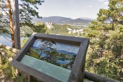 Bled Lake observation deck in Slovenia. Royalty Free Stock Photos